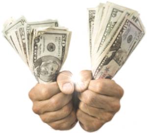 Handen vol geld
